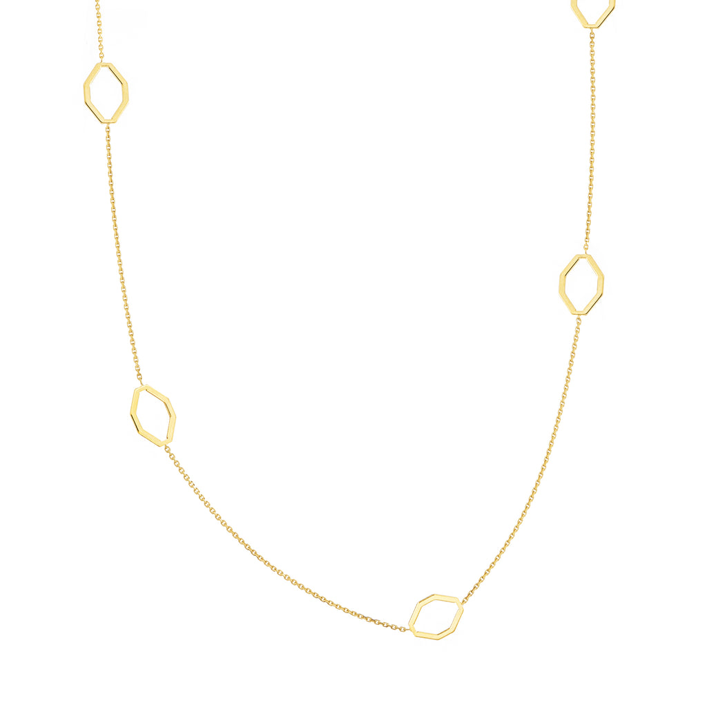 Geometric Station Necklace-Necklace-Milano DG