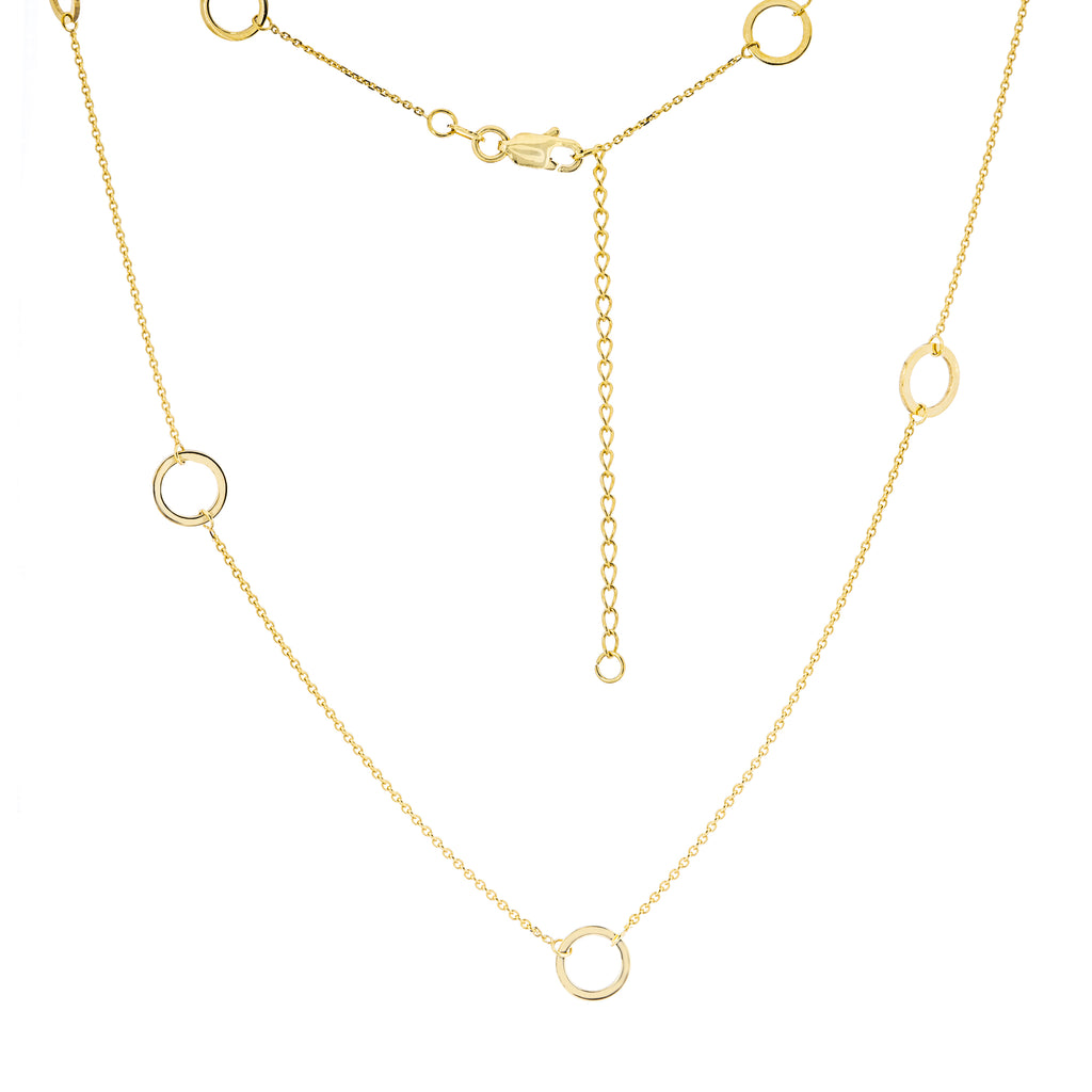Open Circle Station Necklace-Necklace-Milano DG