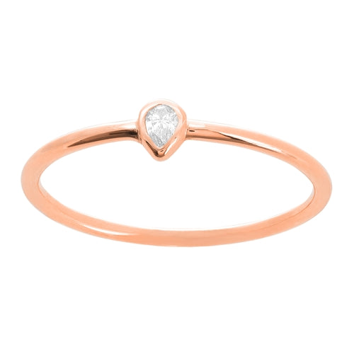 Pear Shape Diamond Ring-Ring-Milano DG