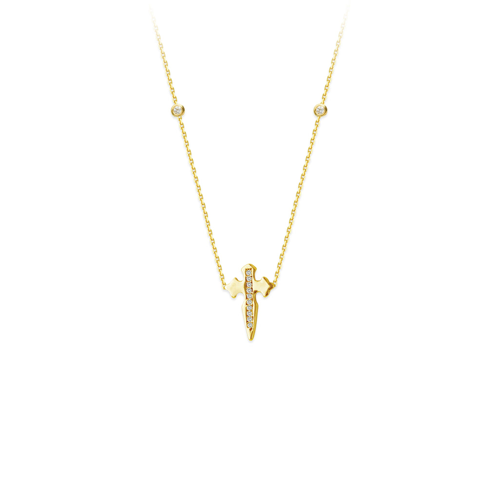 Diamond Dagger Necklace-Necklace-Milano DG