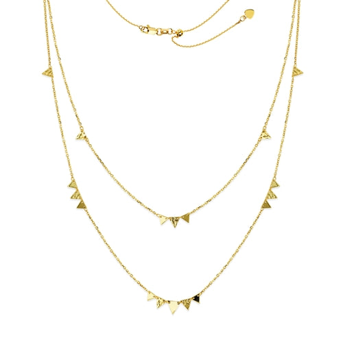 Triangle Layered Necklace-Necklace-Milano DG