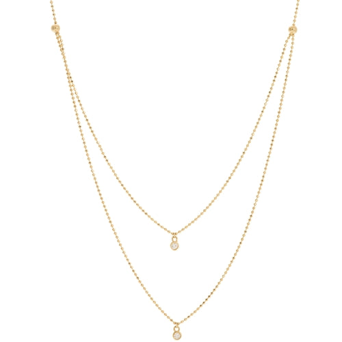 Diamond Strand Necklace-Necklace-Milano DG