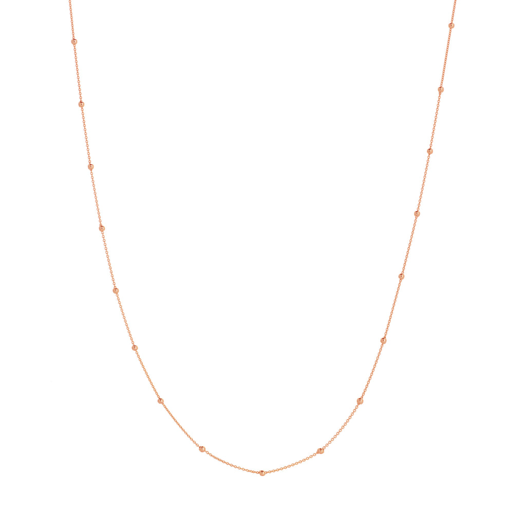 2mm Bead Station Necklace-Necklace-Milano DG