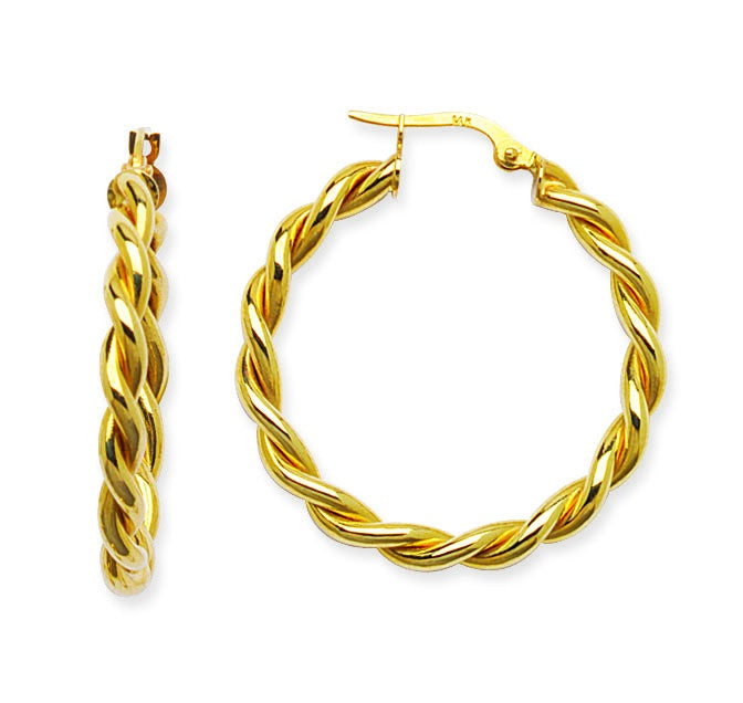 Double Twist Hoop-Earring-Milano DG