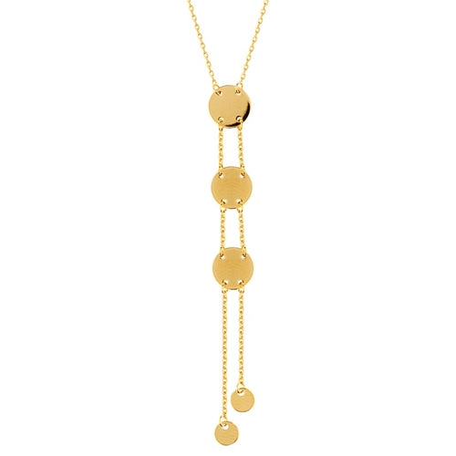 Disc Drop Lariat Necklace-Necklace-Milano DG