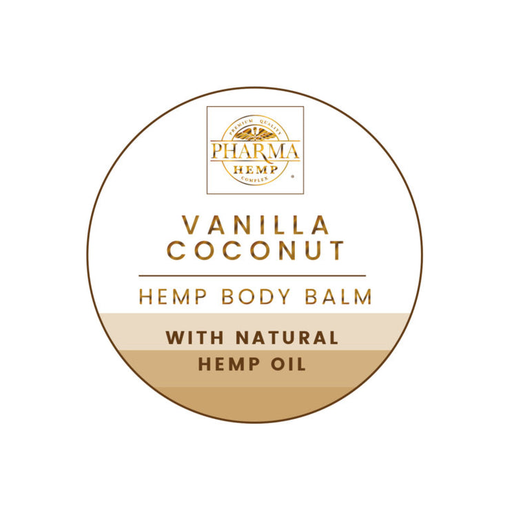 Vanilla Coconut Hemp Body Balm 150mg - By Pharma - Nirvana Naturals CBD