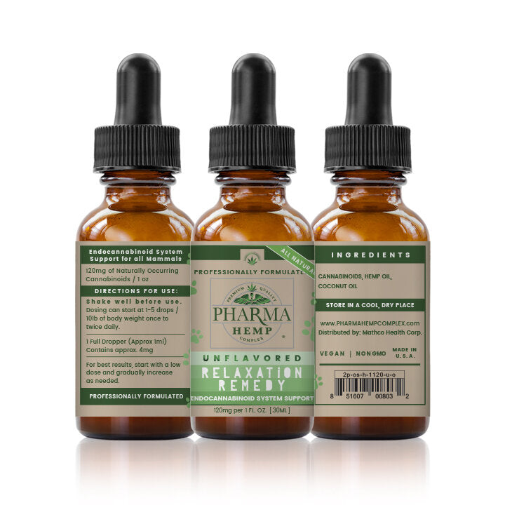 Relaxation Remedy CBD Tincture For Pets 550mg - By Pharma - Nirvana Naturals CBD