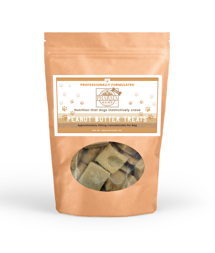 Hemp Complex CBD Oil Peanut Butter Dog Treats 100mg - By Pharma - Nirvana Naturals CBD