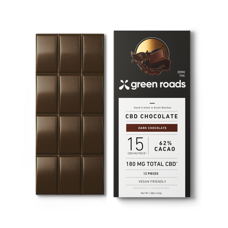 CBD Chocolate - 180 MG Vegan Dark Chocolate CBD Bar - Nirvana Naturals CBD