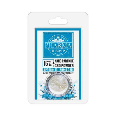 Water Soluble CBD Isolate Nano Particle Powder - By Pharma - Nirvana Naturals CBD