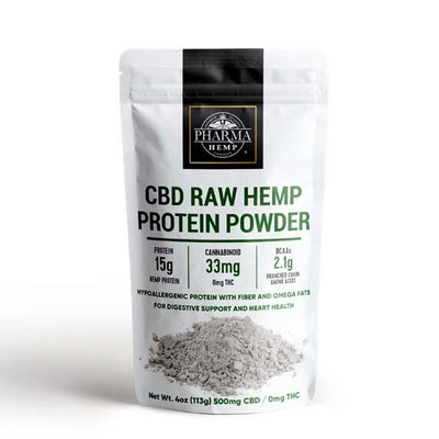 CBD Raw Hemp Protein Powder By Pharma - Nirvana Naturals CBD