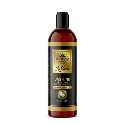 CBD Massage Oil -Jasmine Bali Flower 500mg - 8oz By Pharma - Nirvana Naturals CBD