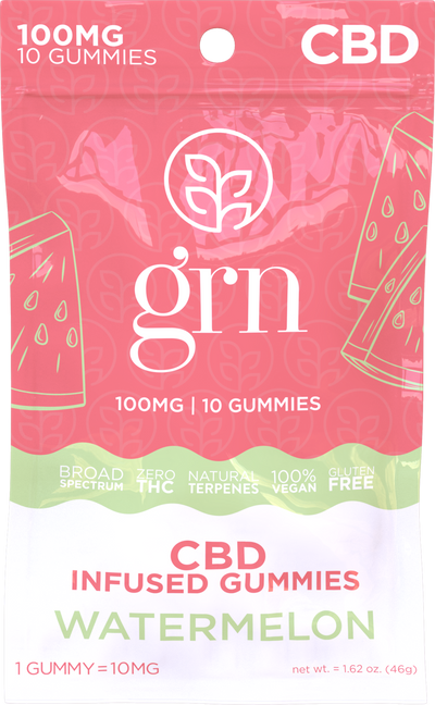 CBD Gummies Watermelon 100mg - By GRN - Nirvana Naturals CBD