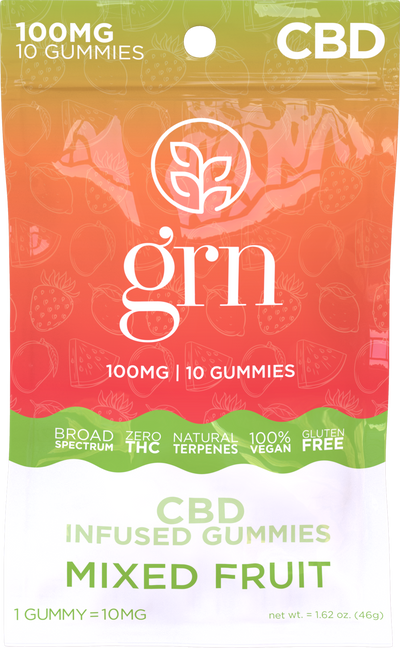 CBD Gummies Mixed Fruit 100mg - By GRN - Nirvana Naturals CBD