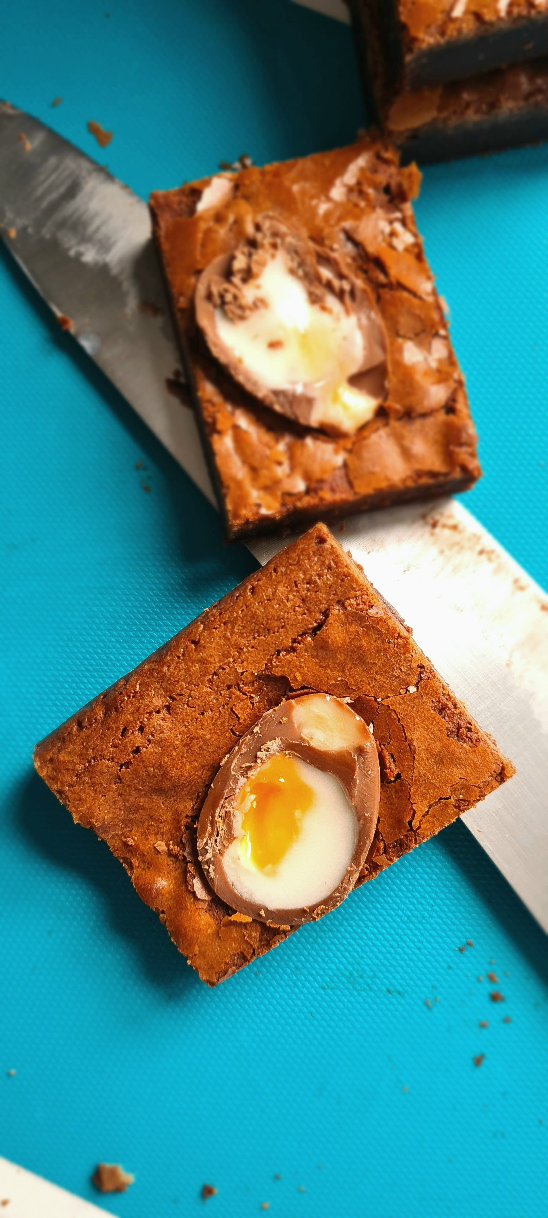 Creme Egg Brownie - EASTER SPECIAL (Box of 4) - Banging Bakes