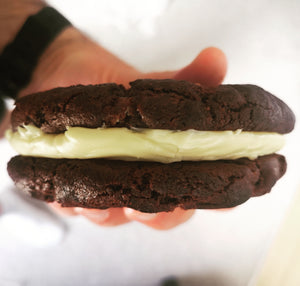 Quadruple Chocolate Cookie Sandwich - Banging Bakes
