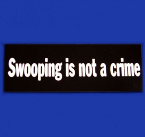 SWOOPING IS NOT A CRIME