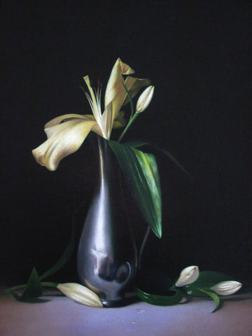 Lily and pewter vase - The Arts Inn Fine Art Gallery