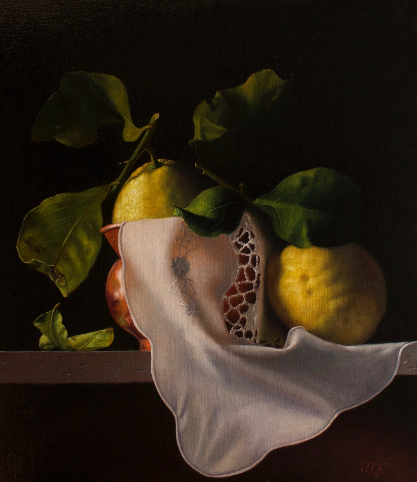 Lemons and copper vase - The Arts Inn Fine Art Gallery