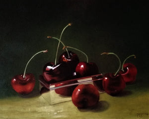 Cherries and silver box - The Arts Inn Fine Art Gallery