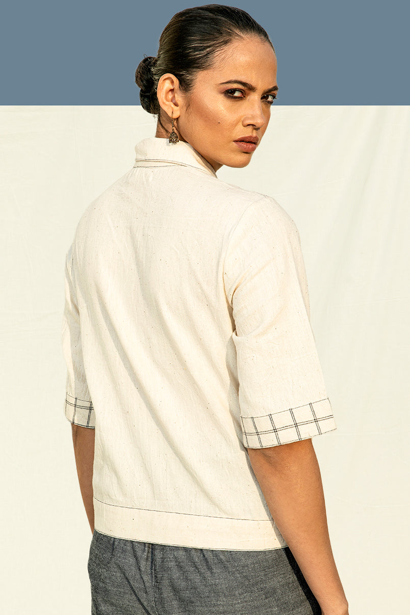 Organic Cotton Shirt in Off-White by Lake Peace