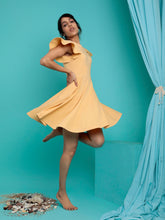 Load image into Gallery viewer, Yellow Skater Dress