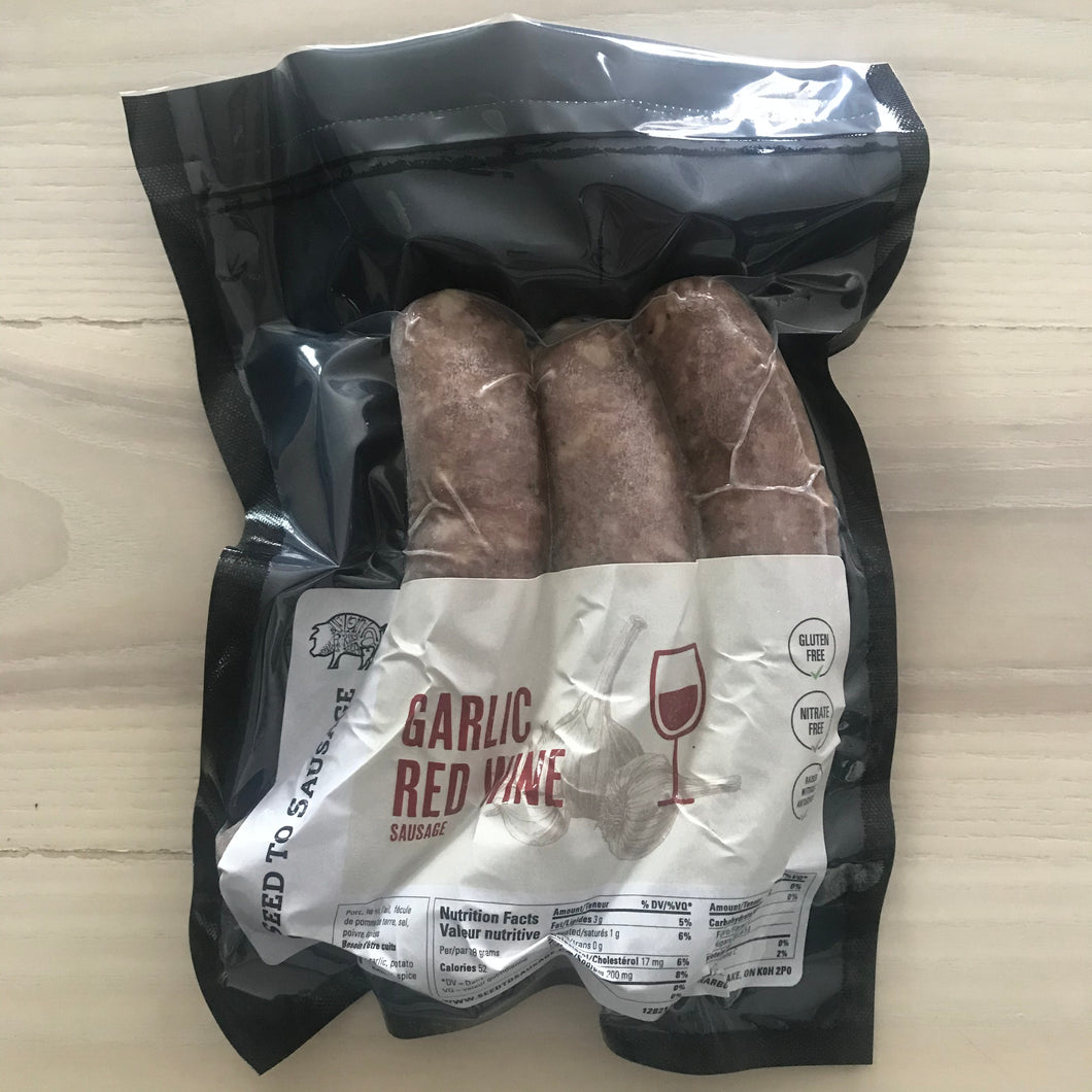 SEED TO SAUSAGE GARLIC RED WINE SAUSAGES