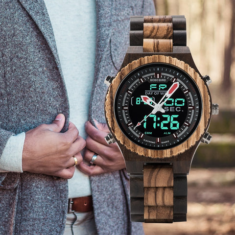 Reloj digital madera BOBO BIRD - Woody watchs