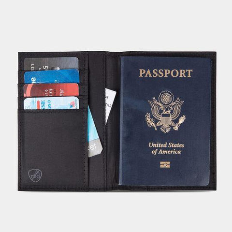 RFID Passport Case Blk - Leon & Lulu