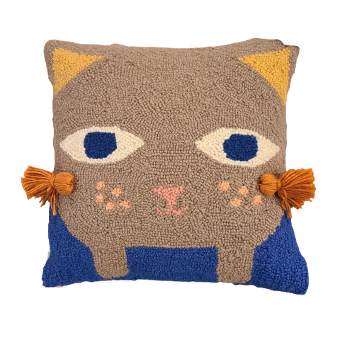 Kitten With Tassels Pillow - Leon & Lulu