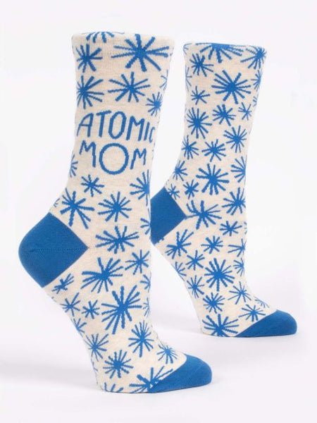 Women's Crew Socks: 4 year staff vet, SAM, loves Blue Q socks and thinks that they make the perfect gift for any sassy las.