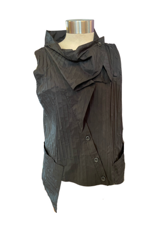 Martha Pleated Vest - Leon & Lulu