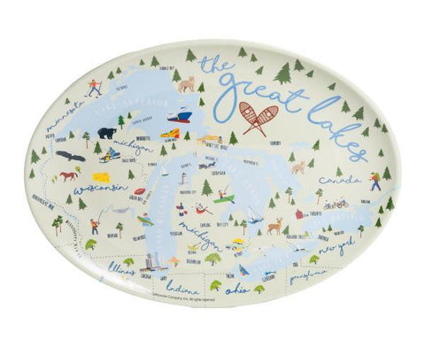 "Great Lakes 16"" Oval Platter - Leon & Lulu"