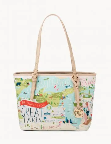 Great Lakes Small Tote Bag - Leon & Lulu