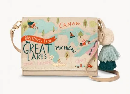 Great Lakes Embroidered Crossbody - Leon & Lulu
