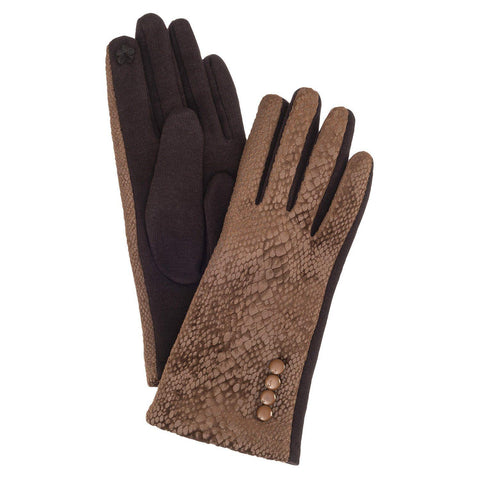 Glove Brown Snake w/ Buttons - Leon & Lulu - Shop Now