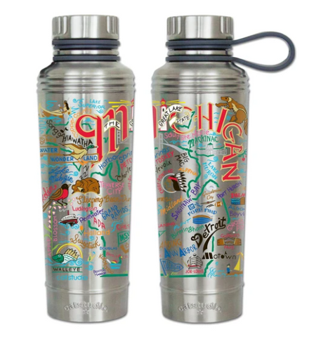 Michigan Thermal Water Bottle - Leon & Lulu