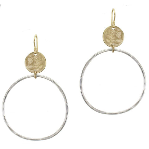 Earring Wire Concave Disc Ring - Leon & Lulu