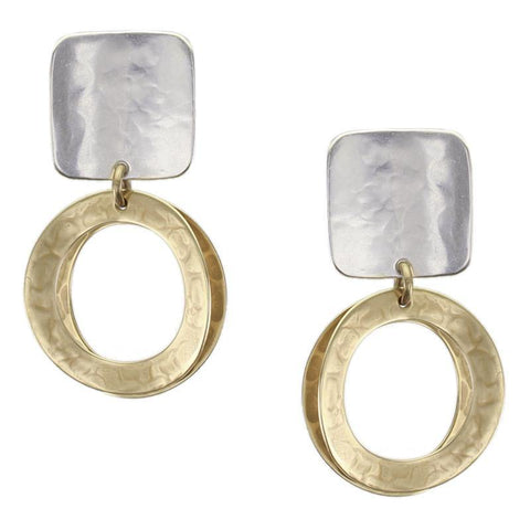 Clip Earring MD Concave Square - Leon & Lulu