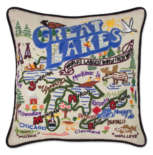 Great Lakes Pillow - Leon & Lulu