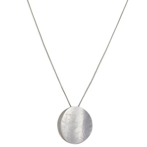 Necklace Long Concave Discs - Leon & Lulu