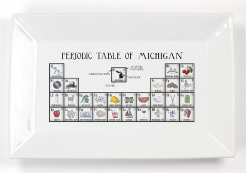 Michigan Periodic Table Platter - Leon & Lulu