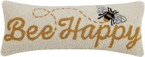 Pillow Bee Happy Lumbar - Leon & Lulu - Shop Now