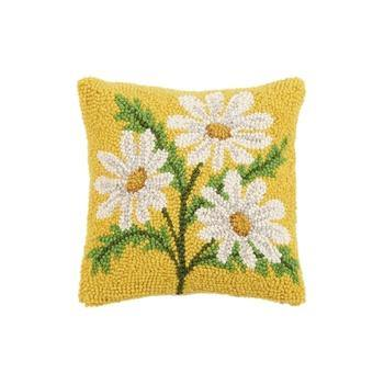 Pillow Daisy on Yellow 10x10 - Leon & Lulu - Shop Now