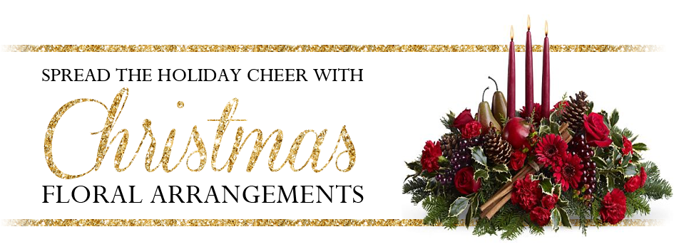 Spread holiday cheer with Christmas floral arrangements
