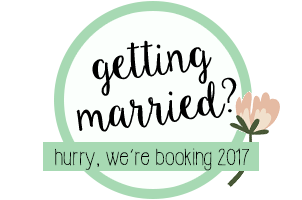 Getting Married? We are booking for 2017 Brides!