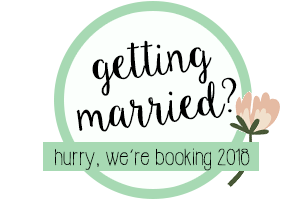 Getting Married? We are booking for 2018 Brides!