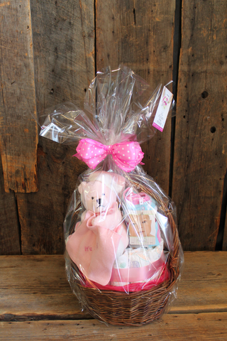 It's a baby girl gift basket!