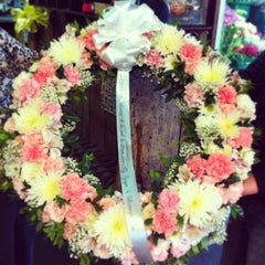 Funeral Wreath & Cross