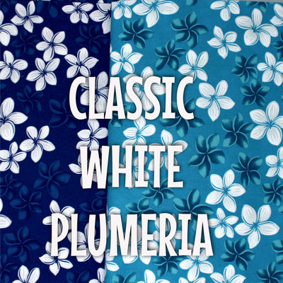 Plumeria White - (TURQUOISE AND ROYAL ONLY)